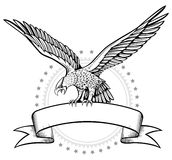 Winges Eagle banner Stock Photography