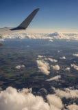 Winglet самолета над облаками Стоковое фото RF