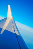 Winglet in the blue sky. Airplane winglet in the blue sky Stock Images
