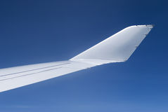 Winglet of passenger airplane Stock Images