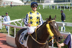 Wingold vince il supporto Parker Handicap in Hong Kong immagini stock