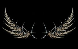 Wings. Fractal image of wings royalty free illustration