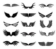 Wings. Collection of wings for design stock illustration