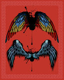Wings. Isolated on light background. Additional vector format Illustrator 8 eps Royalty Free Stock Photography