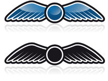 Wings. Winged emblem that can be used for company branding Stock Photo