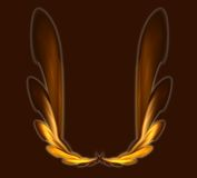 Wings. Abstract wings on brown background -  illustration Royalty Free Stock Photo