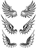 Wings. The  image of various wings Royalty Free Stock Images
