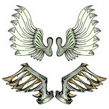 Wings-2. Beautiful wings with unique style Stock Images