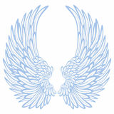 Wings. Pair of wings on a white background Royalty Free Stock Images