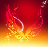 Wings. Flying wings in red background stock illustration