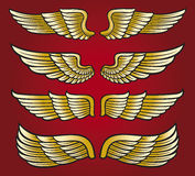 Wings. Collection, set of Royalty Free Stock Photo