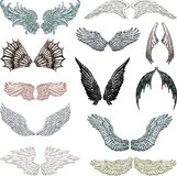Wings. Vector image of a different wings Stock Images
