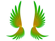 Wings. Pair of parot wings over the  white. Computer genarated illustration Stock Photos