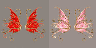 Wings. Anngel and/or fairy wings for your artistic creations Stock Photography