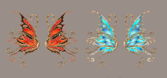 Wings. Anngel and/or fairy wings for your artistic creations Royalty Free Stock Photo