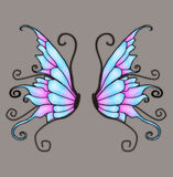 Wings. Anngel and/or fairy wings for your artistic creations Stock Images