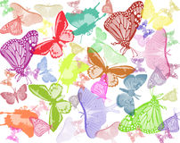 Wings. Butterfly background Royalty Free Stock Photo