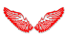 Wings. An illustration of the wings Stock Photography