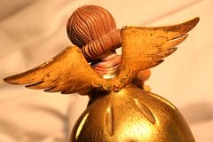 Wings of Angel. Behind / Hot Lights royalty free stock image