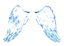 Wings of the angel. Blue, tender, clean Stock Images
