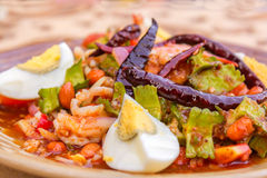 Wings Bean Spicy Salad Royalty Free Stock Photography