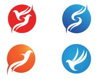 Wings bird sign abstract template icons app Royalty Free Stock Photo