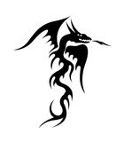 Wings black dragon illustration Royalty Free Stock Photography