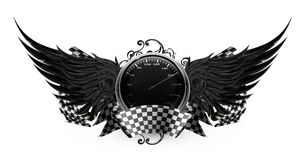 Wings Black, Racing emblem Royalty Free Stock Photo