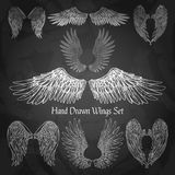 Wings Chalkboard Set Stock Images