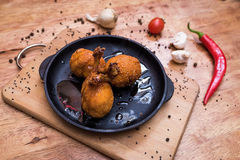 Wings of chicken in deep-fried Stock Images