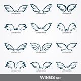 Wings collection. (set of wings Royalty Free Stock Images