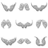 Wings collection set Royalty Free Stock Photos