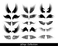 Wings collection (set of wings) Stock Photo