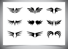 Wings collection (set of wings) Royalty Free Stock Image