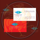Wings construction business card logo. Icon vector stock illustration