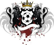 Wings Crown Heraldic black lion tattoo soccer futbol coat of arms. Heraldic black lion tattoo soccer futbol coat of arms in vector format very easy to edit Stock Photos