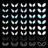 Wings decorative Icons sets. Creative Icon Design Series. Royalty Free Stock Photography