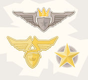 Wings design elements Stock Photos
