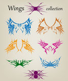 Wings. Elements for design. Vector illustration. Royalty Free Stock Photos