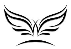 Wings emblem Stock Photos