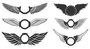 Wings emblems Stock Image