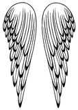 Wings, feathers, angel Stock Photography