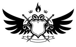 Wings & Fire Royalty Free Stock Photo