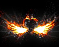 Wings of Fire Royalty Free Stock Image