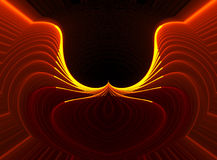 Wings of Fire. Conceptual, technical, industrial, background in orange, red and yellow Stock Images
