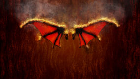 Wings Of Fire Illustration Royalty Free Stock Image