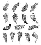 Wings graphic illustration Stock Photo