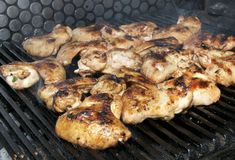 Wings on the grill Royalty Free Stock Photos