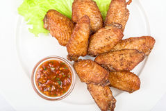 Wings grilled Royalty Free Stock Images