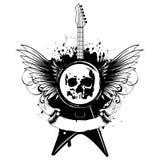 Wings guitar skull_var 6 royalty free illustration